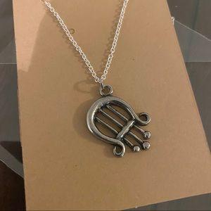Lyre Charm Necklace